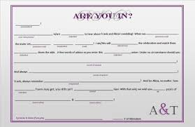bridal mad libs mad lib template anyone done these as a postcard weddings