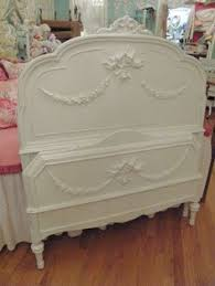 Shabby Chic White Bed Frame by Shabby Chic French Provincial Queen Sleigh Bed Frame Periwinkle