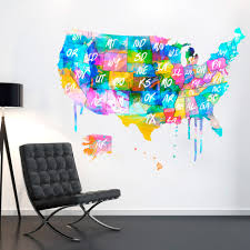 Images Of Usa Map by Usa Us Map Usa Map United States Watercolor Decal