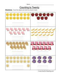 awesome collection of counting to twenty worksheets on worksheet