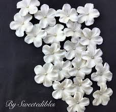 edible cake decorations white gum paste flowers edible cake decorations 25 silver