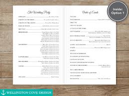 simple wedding ceremony program 19 wedding ceremony templates free sle exle format
