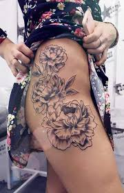 best 25 side thigh tattoos ideas on flower side