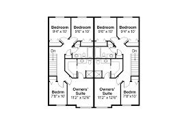 Floor Plans Duplex Craftsman House Plans Toliver 60 020 Associated Designs