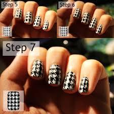 houndstooth nail design choice image nail art designs