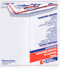 Piedmont Airlines Route Map by Airline Timetables Ransome Airlines July 1985