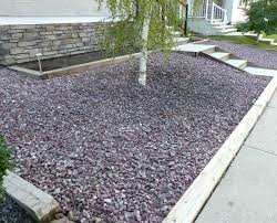 Rock Garden Designs For Front Yards River Rock Landscape Edging Small Front Yard With River Rocks