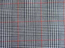 navy blue white red houndstooth plaid fabric apparel home