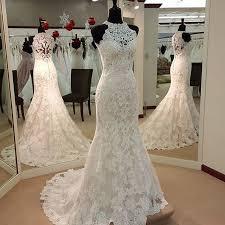 high neck halter wedding dress h1499 halter high neck lace mermaid wedding dress