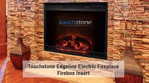 touchstone edgeline 28 inch led electric firebox fireplace insert