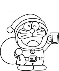 doraemon santa coloring boys pages kidscoloringpage