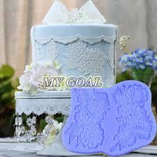 silicone fondant lace mould cake decorating border icing emboss