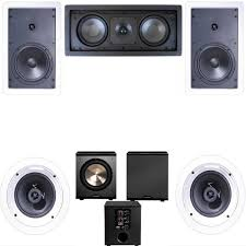 boston home theater 5 1 amazon com klipsch r 1650 w in wall 2 5 1 home theater system r