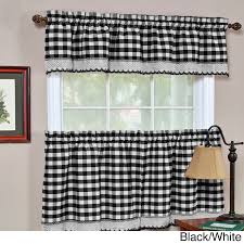 Black Window Valance Buffalo Check Valance Walmart Com