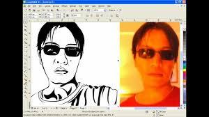 tutorial vektor dengan corel coreldraw tutorial vector line art youtube