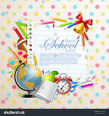 back school greeting card stationery vector stock vector 82765423