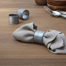 crate and barrel napkins galvanized iron napkin ring in napkin rings place card holders