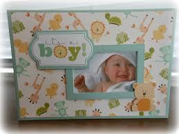 baby boy photo album baby boy or baby girl mini album with bonnie card