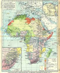 Africa Time Zone Map by British Somaliland Protectorate