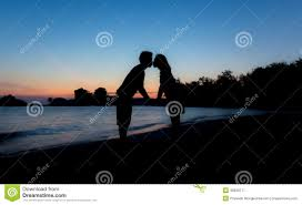 Photography Lovers Silhouette Lovers On Beach Stock Photo Image 39033857