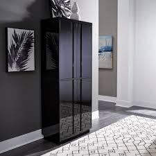 black kitchen pantry cupboard homestyles linear black kitchen pantry 8002 69 the home depot