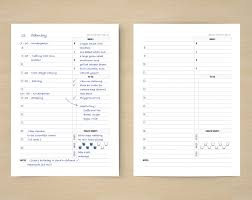 trip planner template a5 daily planner inserts schedule to do meals sports a5 daily planner inserts printable filofax insert a5 undated daily plan template