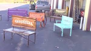 Bench Made From Tailgate Farmhouse Garden Bench By Raymond Guest Youtube