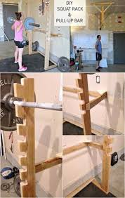 Diy Wood Squat Rack Plans by Diy Squat Rack And Pull Up Bar Crossfit Garagegym Diy