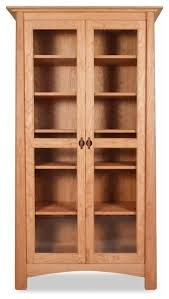Bookcase Maple Harvestmoon Bookcase With Glass Doors Craftsman Bookcases By