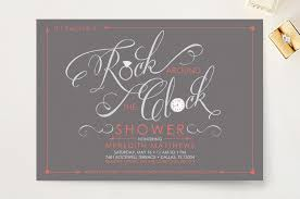 around the clock bridal shower rock around the clock bridal shower invitations by