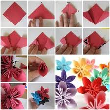 cara membuat origami kusudama how to fold cute diy kusudama paper craft flower creativity craft