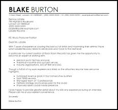 Sample Email Cover Letter With Attached Resume by Music Producer Cover Letter Sample Livecareer