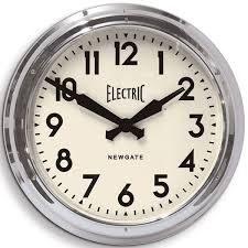 newgate large electric clock chrome large kitchen clock