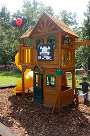 wood playsets for small yards