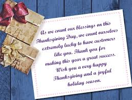 on thanksgiving we give thanks to you for your business