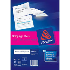 shipping label with paper receipt 936132 avery australia