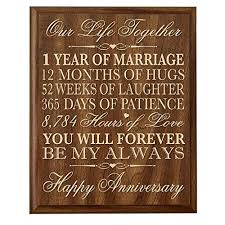 1 year anniversary gifts marriage anniversary gift for