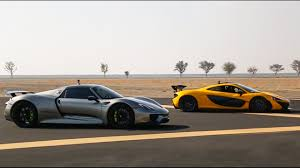 porsche mclaren p1 mclaren p1 vs porsche 918 drag race youtube