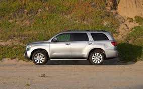 nissan armada vs toyota sequoia 2011 toyota sequoia platinum first drive truck trend