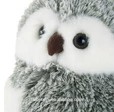 christmas decoration soft plush owl toy stuffed bird toy for
