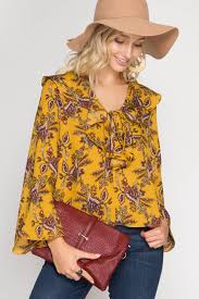 paisley blouse s southern clothing boutique bohemian paisley print ruffle