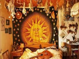 Tapestry On Bedroom Wall Modern Hippie Bedroom Ideas Wall Mounted Wooden Rectangle White