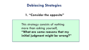 consider the opposite a debiasing strategy youtube
