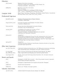 Resume For Photographer Chivaun Fitzpatrick Resume