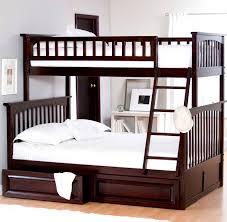 Bunk Beds Espresso Bedroom Modern With Brown Espresso Wooden Low Profile Bunk