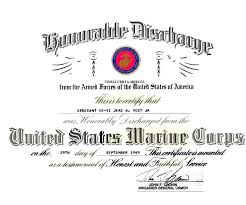 honorable discharge certificate usmc