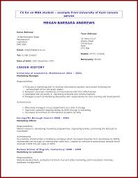 Resume For University Application Sample 17 Cv For Uni Students Sendletters Info
