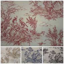 Upholstery Fabric Uk Online Toile De Jouy Print 100 Cotton Craft Upholstery Fabric Ebay