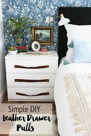 Bedroom Furniture Pulls And Pulls Our Nightstands U0026 Diy Leather Drawer Pulls