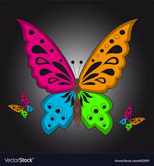 colorful butterfly royalty free vector image vectorstock